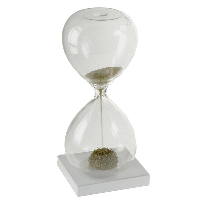 Reloj de arena dorada imantada