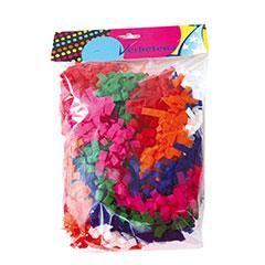 Collar boa papel colores surtidos, Pack 6 u.