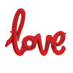Globo texto love rojo 102 x 85 cm