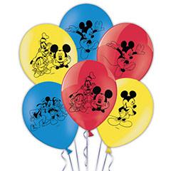 Globos de Látex Mickey y sus amigos colores surtidos. Pack 8 unidades