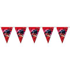 Guirnalda banderines triangulares Ladybug