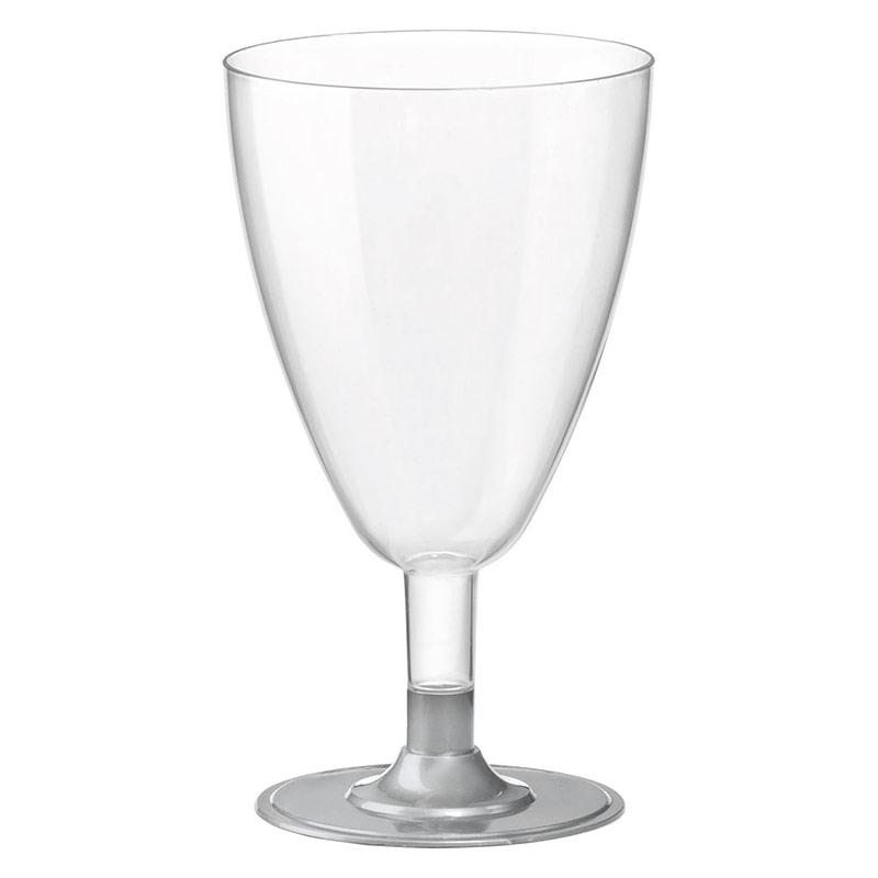 Copas vino plástico transparente, Pack 6 u.