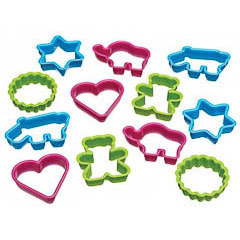 Cortadores de galletas con formas, Set 12 u