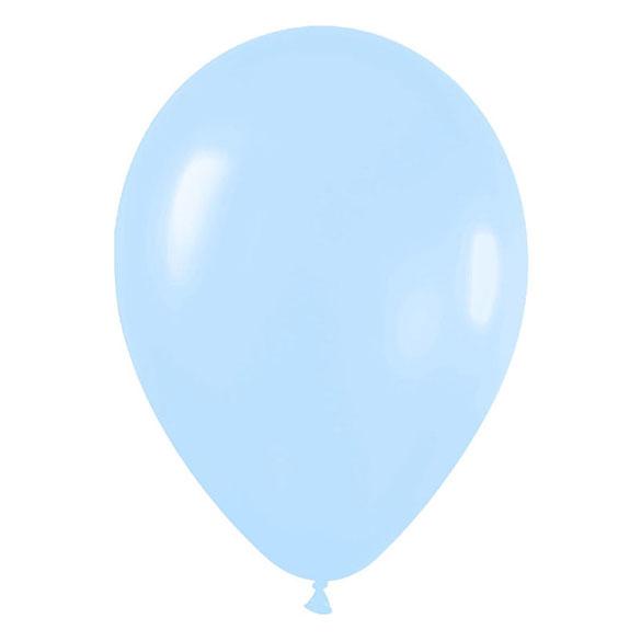 Globos de Látex Azul Cielo. Pack 10 unidades