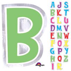 Letra adhesiva de colores variados, de 6 cm de alto.
