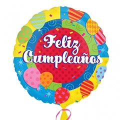 Globo Feliz Cumpleaños con palo