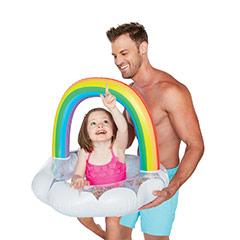 Flotador infantil arcoíris