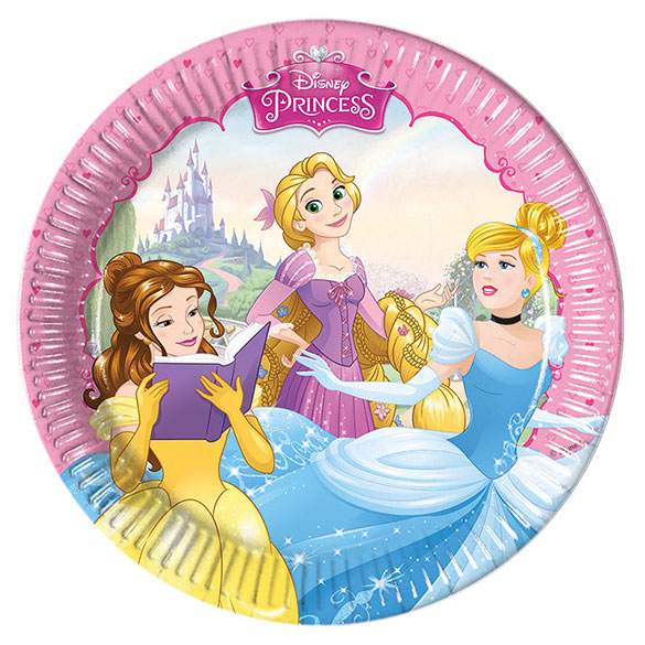 Platos Princesas 19,50 cm, Pack 8 u.