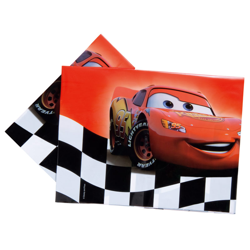 Mantel Cars 180 x 120 cm plástico, Pack 1 u.