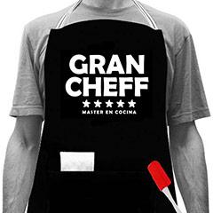 Delantal negro Gran Chef 5 estrellas