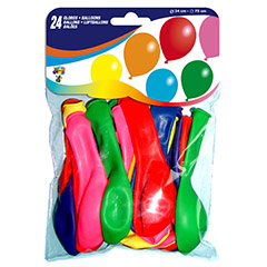 Globos de Látex colores surtidos. Pack 24 u.
