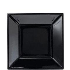 Platos negros 18 x 18 cm, Pack 6 u.
