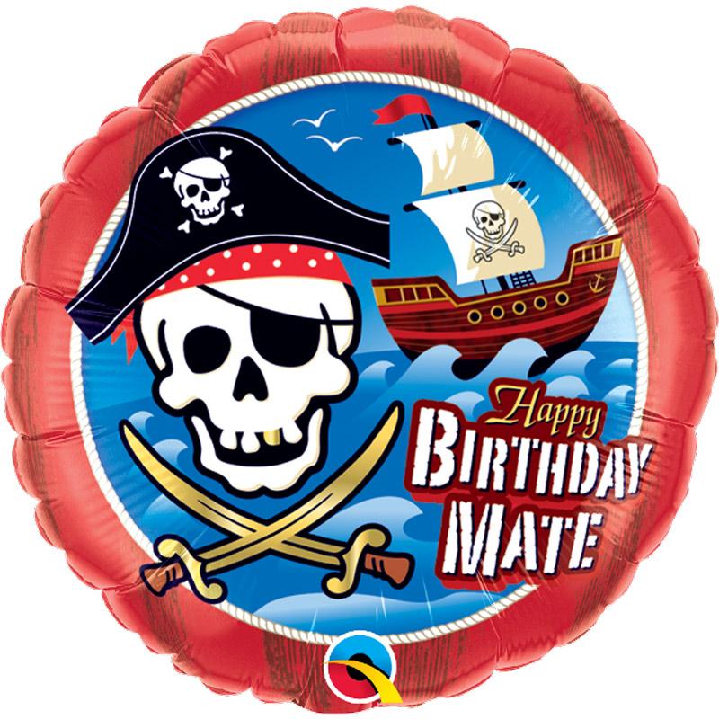 Globo pirata Happy Birthday
