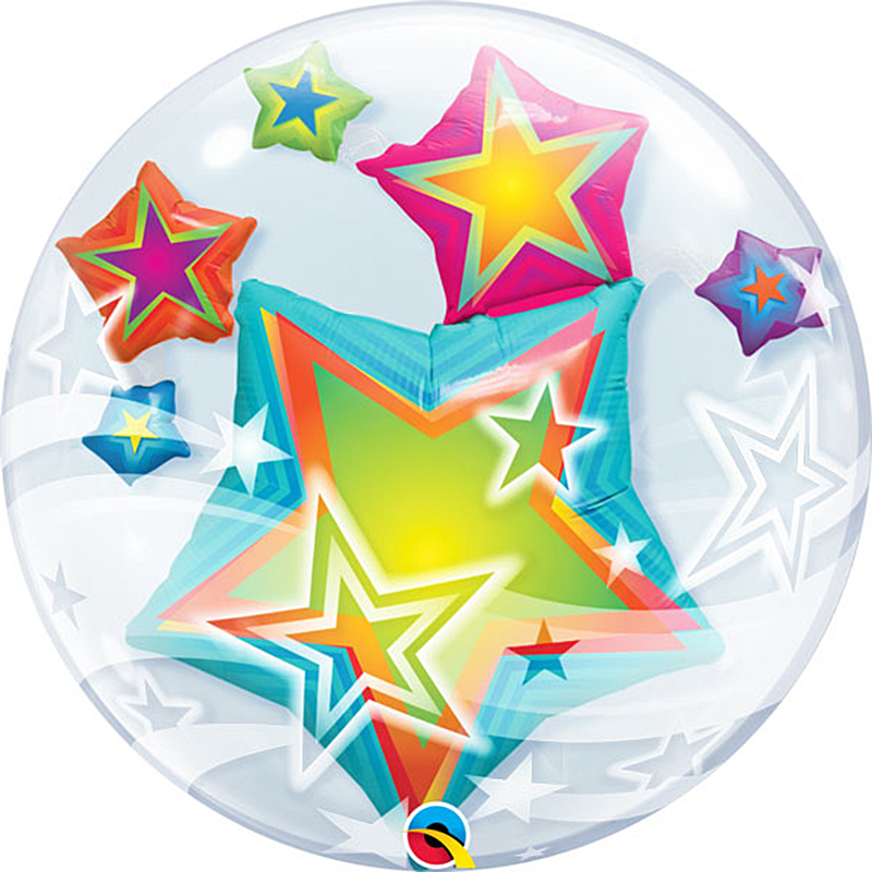 Globo burbujay estrella doble