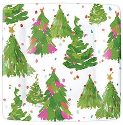 Platos Árboles Navidad 18,30 cm, Pack 8 u.