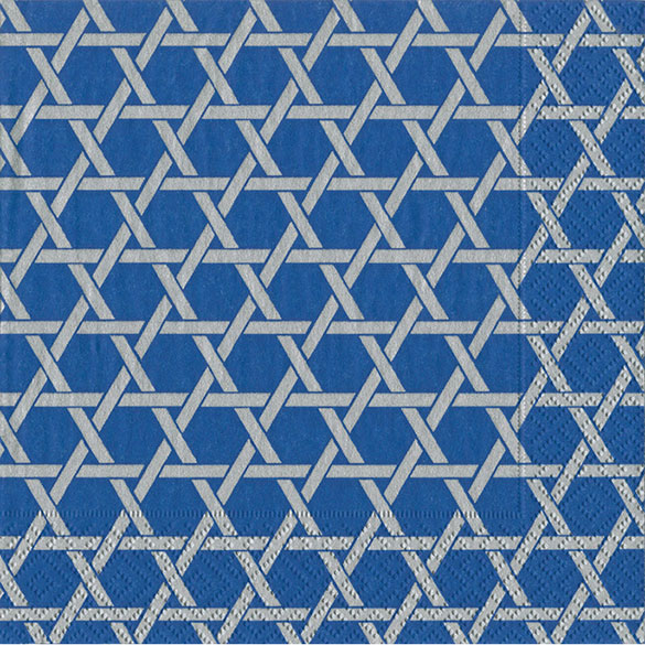 Servilletas estrella 6 puntas 25 x 25 cm