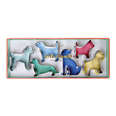 Cortadores de galletas con forma de perros, Set 6 u.