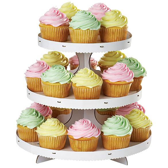 Bandeja cupcakes 3 pisos cartón personalizable
