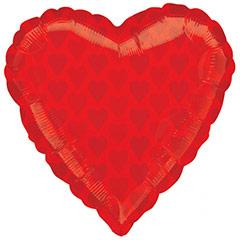 Globo Corazón Rojo con corazones impresos