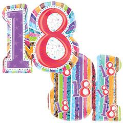 Globo Nº 18 con forma numérica