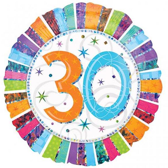Globo metálico 30 años