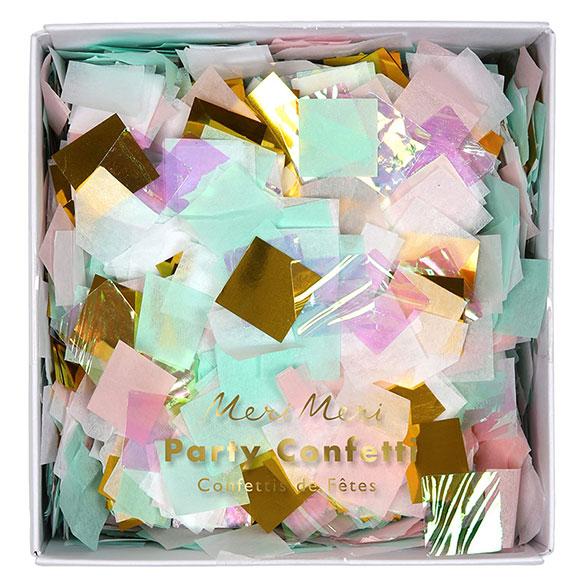 Confeti de papel cuadrado