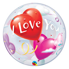 Globo Burbuja I Love You