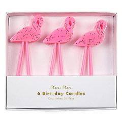 Velas cumpleaños Flamencos, Pack 6 u.