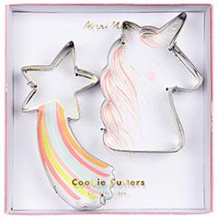 Cortadores de galletas con forma de Unicornio y Estrella, Set 2 u.