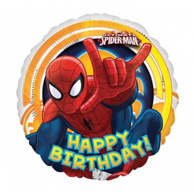 Globo Spiderman Happy Birthday