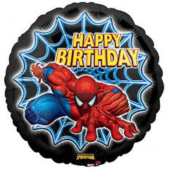 Globo Spiderman Happy Birthday