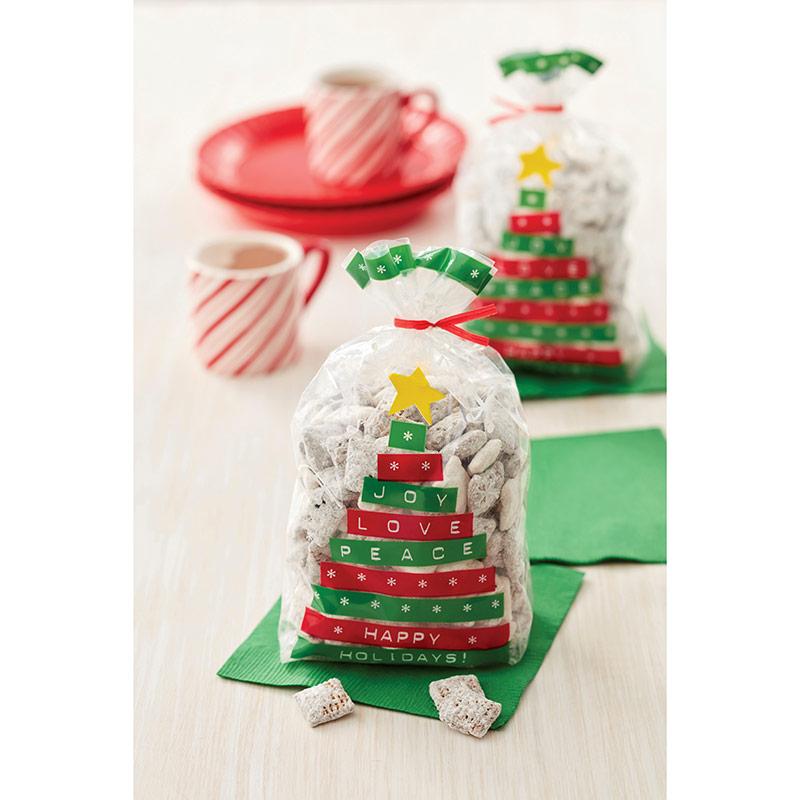 Bolsas Árbol Navidad frases para golosinas y galletas Wilton, Pack 20 u.