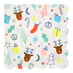 Servilletas Navidad infantil 33 x 33 cm, Pack 16 u.
