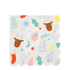 Servilletas Navidad infantil 12,5 x 12,5 cm, Pack 20 u.