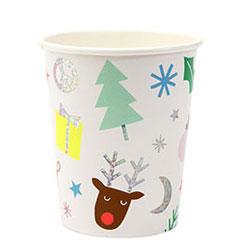 Vasos Navidad infantil 266 ml, Pack 8 u.