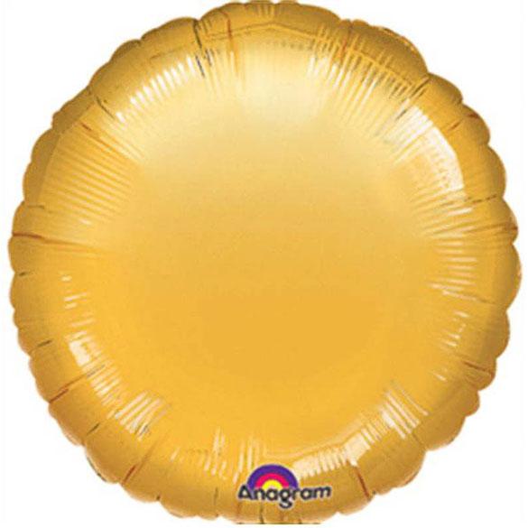 Globo redondo Dorado