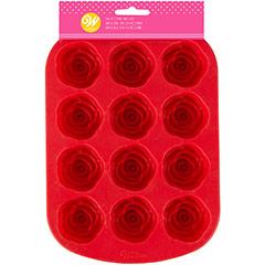 Molde Silicona Rosas de Chocolate, Wilton