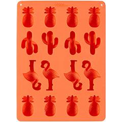 Molde silicona Piñas, Flamencos y Cactus