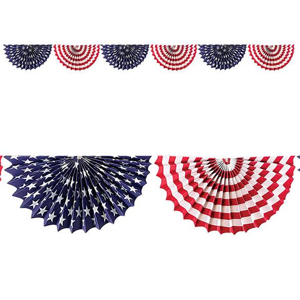 Guirnalda medio círculo bandera USA