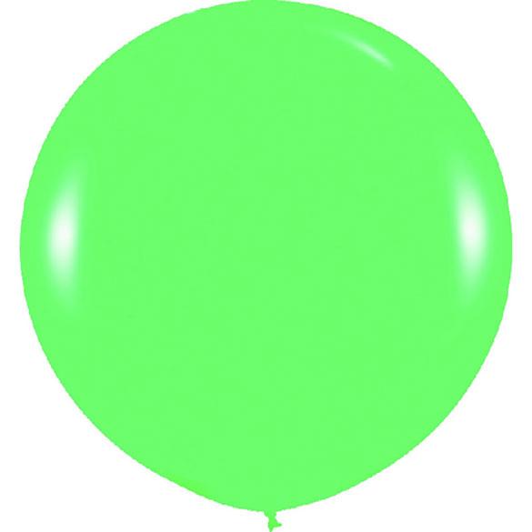 Globo de látex Verde extra grande 80 cm. 1 unidad