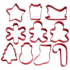 Cortadores de galletas Navidad Wilton, Set 10 u.