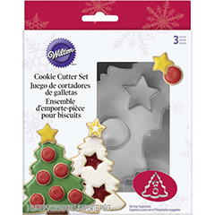 Cortadores de galletas con forma de Árbol de Navidad, Set 3 u.