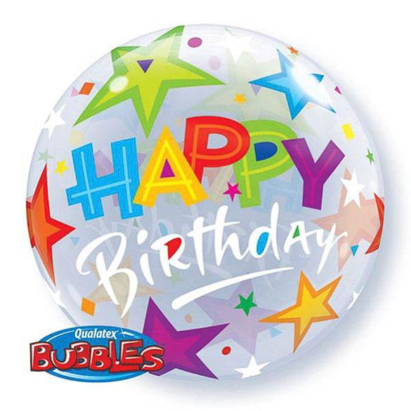 Globo Burbuja Happy Birthday