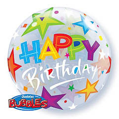 Globo burbuja Happy Birthday