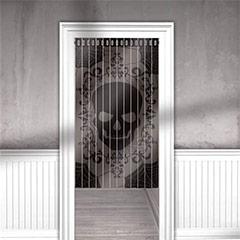 Cortina puerta Calavera con encaje
