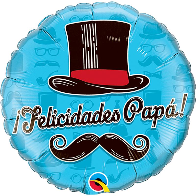 Globo chistera Felicidades Papá