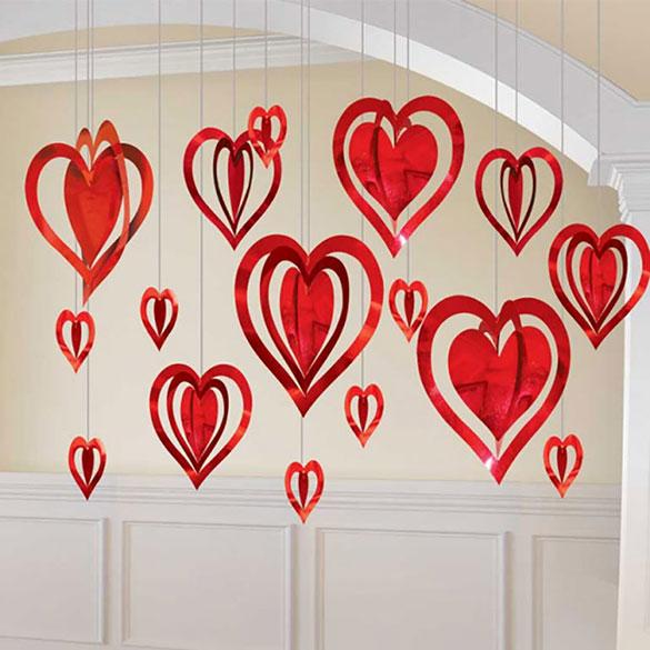 Decoración techo corazones