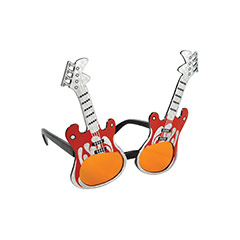 Gafas con forma de guitarra eléctrica
