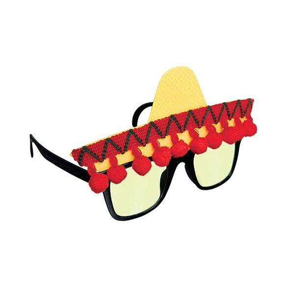 Gafas con forma de sombrero mejicano