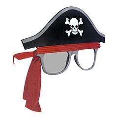Gafas con forma de sombrero pirata